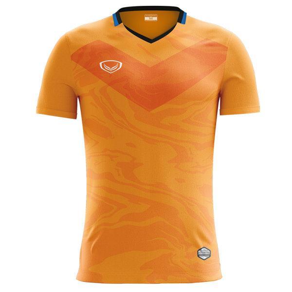 แกรนด์สปอร์ต เสื้อกีฬาฟุตบอลพิมพ์ลาย รหัส : 011483 (สีส้ม)