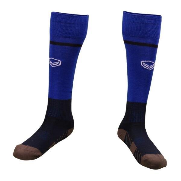 ถุงเท้ากีฬาฟุตบอลทอลาย แกรนด์สปอร์ต รหัส :025141 (สีน้ำเงิน)