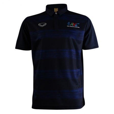 เสื้อโปโลวอลเลย์บอลพิมพ์ลาย ปักAVC (สีน้ำเงิน) รหัส:023133