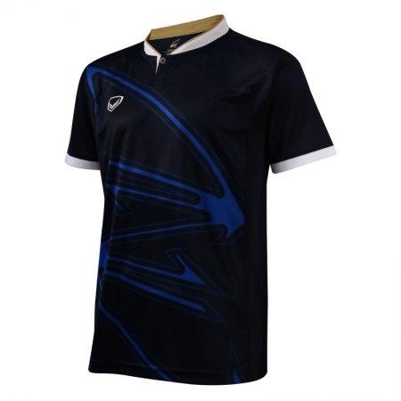 เสื้อกีฬาแบดมินตัน/ เทนนิส คอปีนพิมพ์ลาย   (สีกรม) รหัส:072033