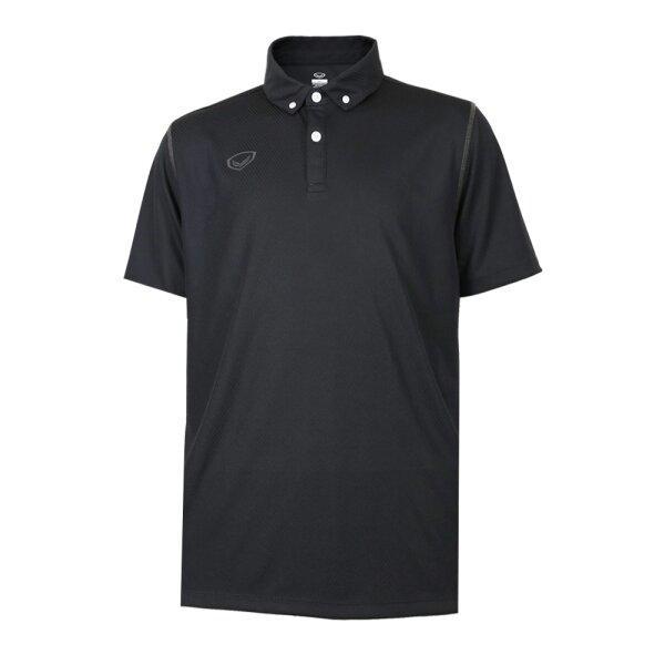 เสื้อโปโลชายสีล้วนทอลาย รหัส : 012253 (สีดำ)