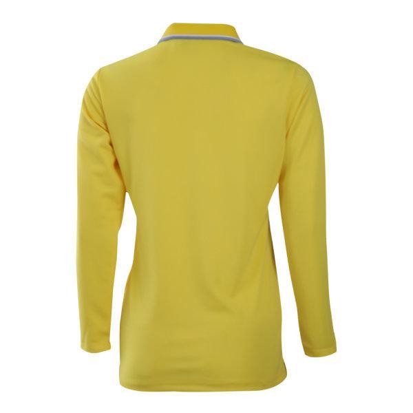 เสื้อโปโลหญิงแขนยาวแกรนด์สปอร์ต (สีเหลือง) รหัส:012779