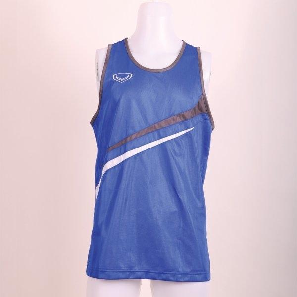 เสื้อกล้ามชายตัดต่อ รหัส : 017090 (สีน้ำเงิน)