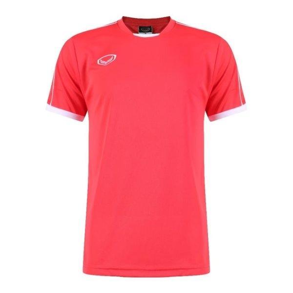 เสื้อกีฬาฟุตบอลตัดต่อ แกรนด์สปอร์ต รหัส : 011542 (สีแดง)