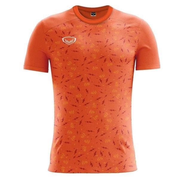 เสื้อกีฬาฟุตบอล แกรนด์สปอร์ต รหัส:011477 (สีส้ม)