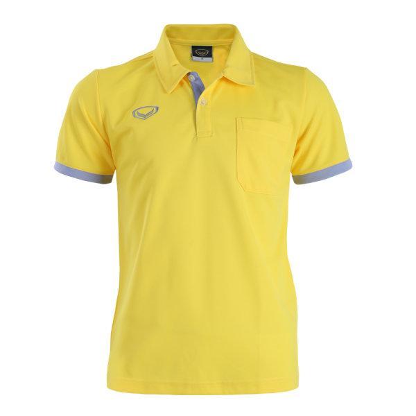เสื้อโปโลชายสีเหลืองแกรนด์สปอร์ต รหัส: 012570