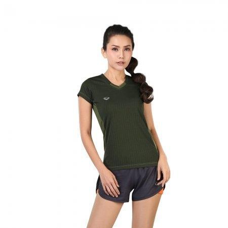 เสื้อแอโรบิกคอวี รหัสสินค้า:028376(สีเขียว)