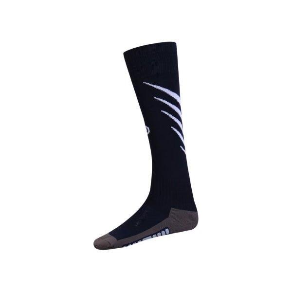 ถุงเท้ากีฬาฟุตบอลทอลาย  รหัส :025135 (สีกรม)