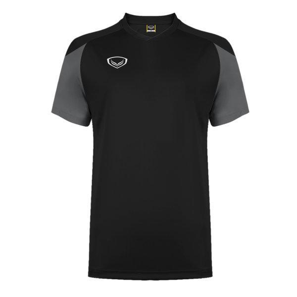 แกรนด์สปอร์ต เสื้อกีฬาฟุตบอล ตัดต่อ รหัส: 011481 (สีดำ)
