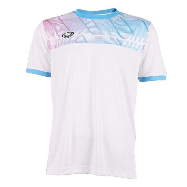 แกรนด์สปอร์ตเสื้อกีฬาฟุตบอลพิมพ์ลาย รหัส : 011553 (สีขาว)