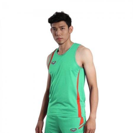 เสื้อวิ่งชายตัดต่อ (สีเขียว) รหัส :017129