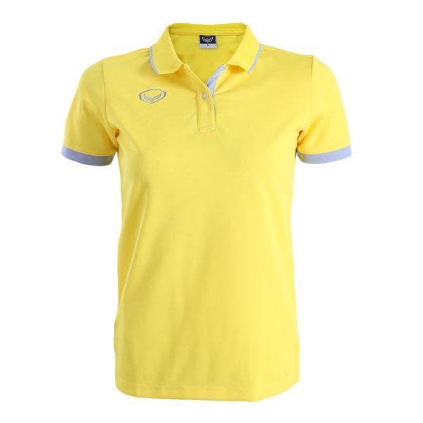 เสื้อโปโลหญิงสีเหลืองแกรนด์สปอร์ต รหัส : 012771