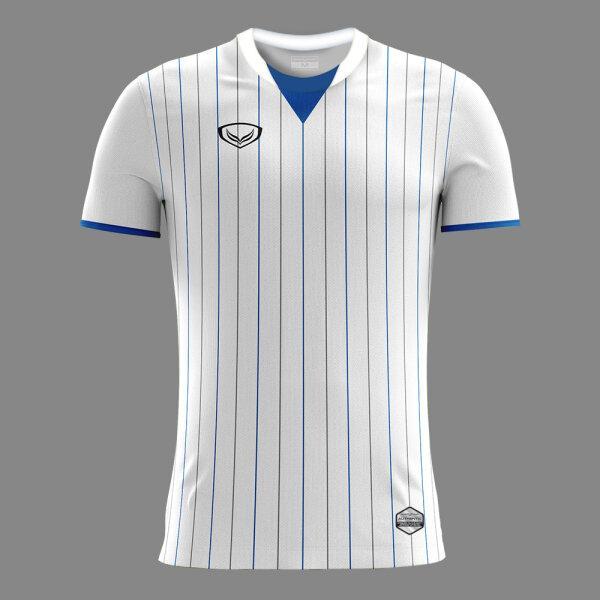 เสื้อกีฬาฟุตบอลพิมพ์ลาย แกรนด์สปอร์ต รหัสสินค้า:011545 (สีขาว)