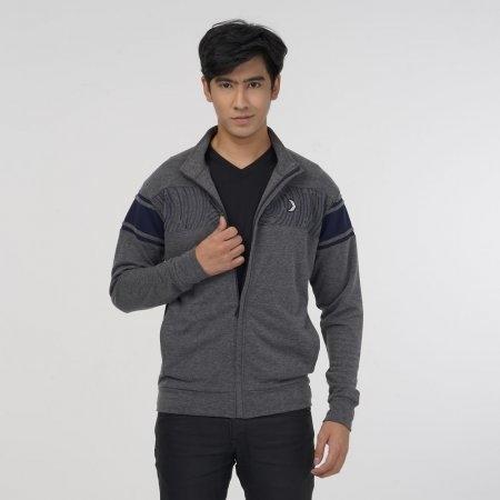 เสื้อแจ็คเก็ตพิมพ์ลาย (Filagen) สีเทา รหัส:023168