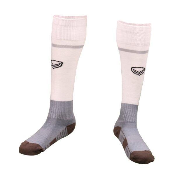ถุงเท้ากีฬาฟุตบอลทอลาย แกรนด์สปอร์ต รหัส :025141 (สีขาว)