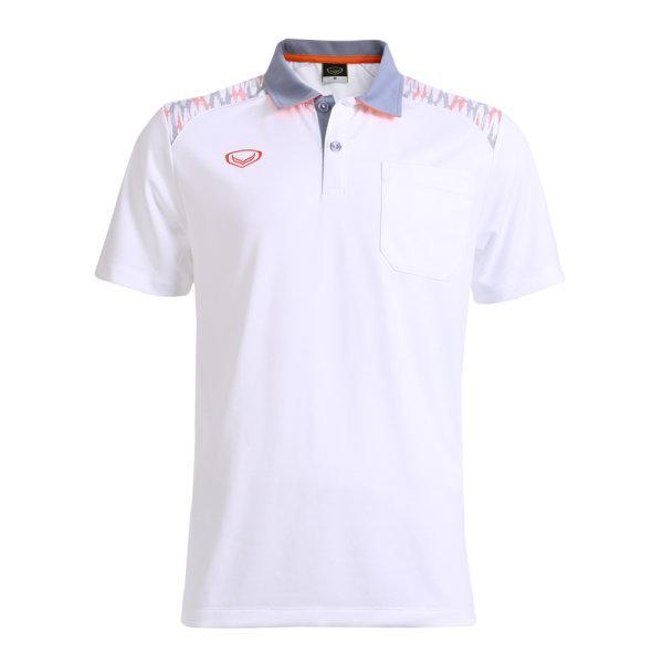 เสื้อโปโลชายแกรนด์สปอร์ต รหัส :012576 (สีขาว)