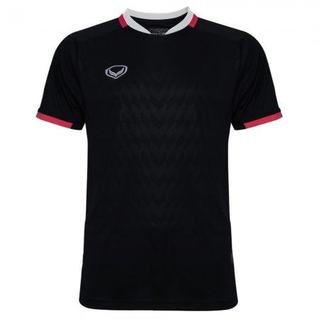 เสื้อฟุตบอล แกรนด์สปอร์ต(Emboss) สีดำ รหัส:011446