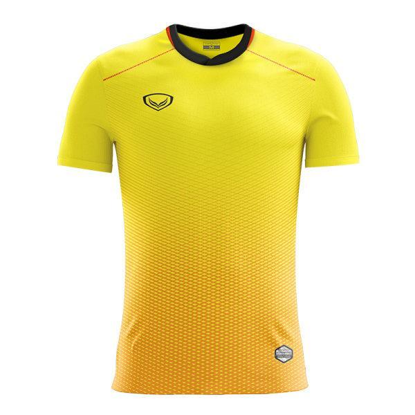 แกรนด์สปอร์ต เสื้อกีฬาฟุตบอลพิมพ์ลาย รหัส : 011482 (สีเหลือง)