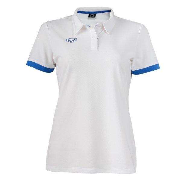 เสื้อโปโลหญิงแกรนด์สปอร์ต รหัส :012739 (สีขาว)
