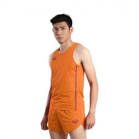 เสื้อวิ่งชายกุ้นด้านข้าง (Grand Sport RUNNING) รหัส: 017127 (สีส้ม)