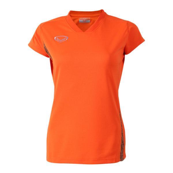 เสื้อกีฬาตัดต่อหญิง แกรนด์สปอร์ต(สีส้ม) รหัส:014270