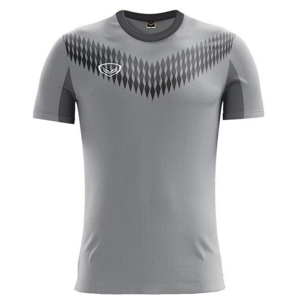เสื้อกีฬาฟุตบอล แกรนด์สปอร์ต รหัส :011476 (สีเทา)