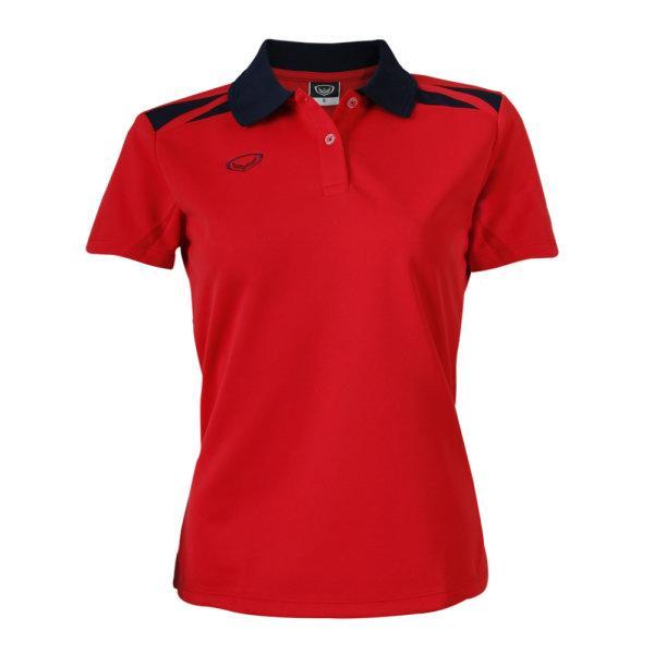 เสื้อคอปกหญิง แกรนด์สปอร์ต (สีแดง) รหัส :012694