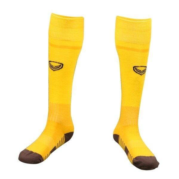 ถุงเท้ากีฬาฟุตบอลทอลาย แกรนด์สปอร์ต รหัส :025141 (สีเหลือง)