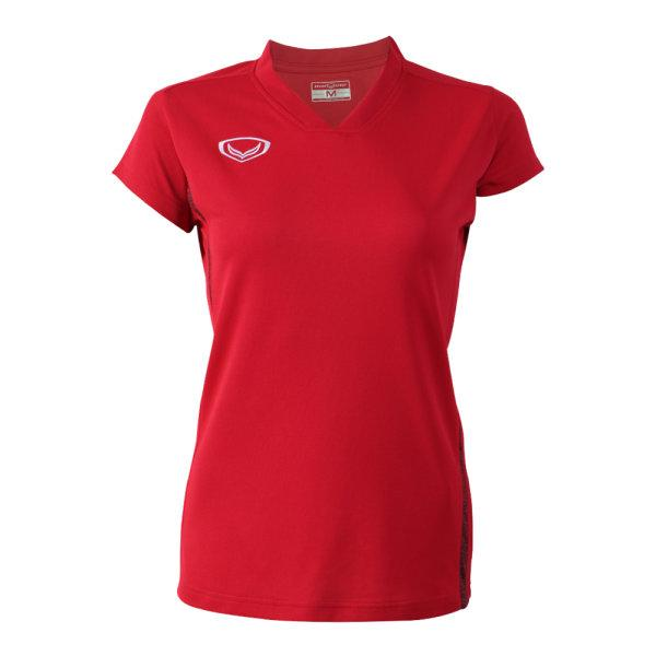เสื้อกีฬาตัดต่อหญิง แกรนด์สปอร์ต(สีแดง) รหัส:014270