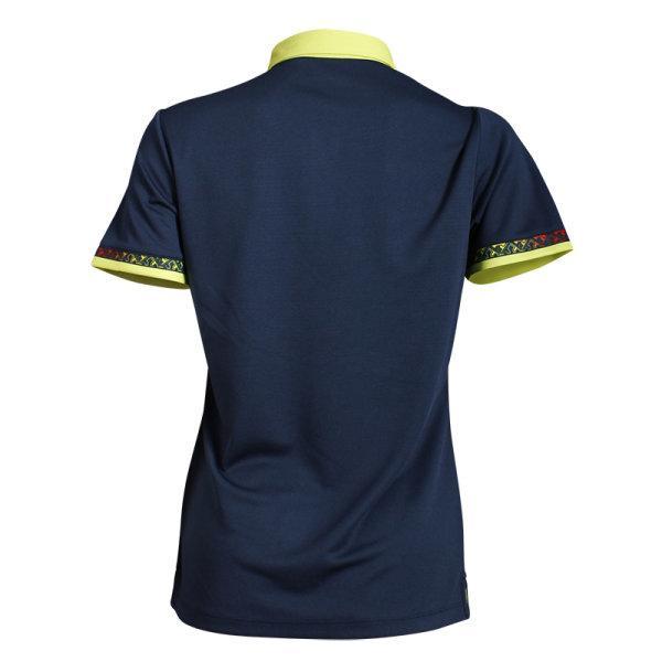 เสื้อโปโลหญิงแขนสั้น (สีกรม) รหัส : 012746