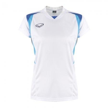 เสื้อกีฬาหญิงตัดต่อ แกรนด์สปอร์ต (สีขาว) รหัส : 014243