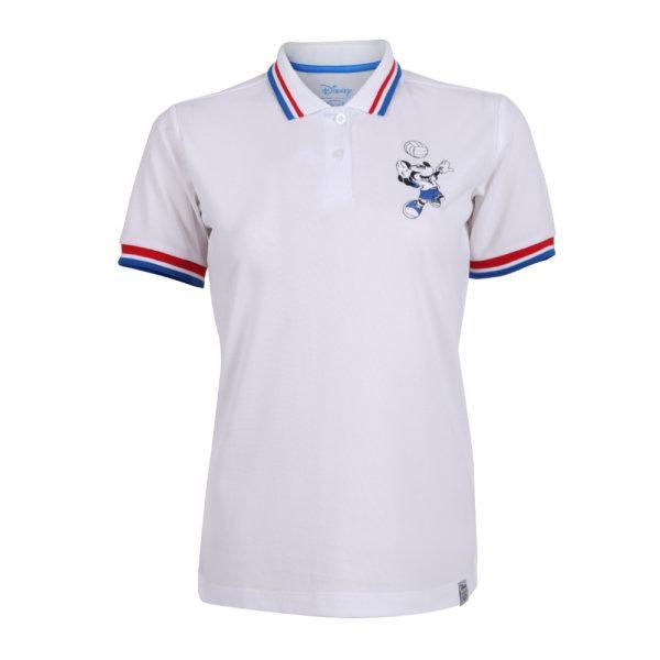 เสื้อโปโลหญิงปัก Mickey  รหัส : 621015 (สีขาว)