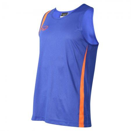 เสื้อวิ่งหญิงตัดต่อ (สีน้ำเงิน) รหัส :017130