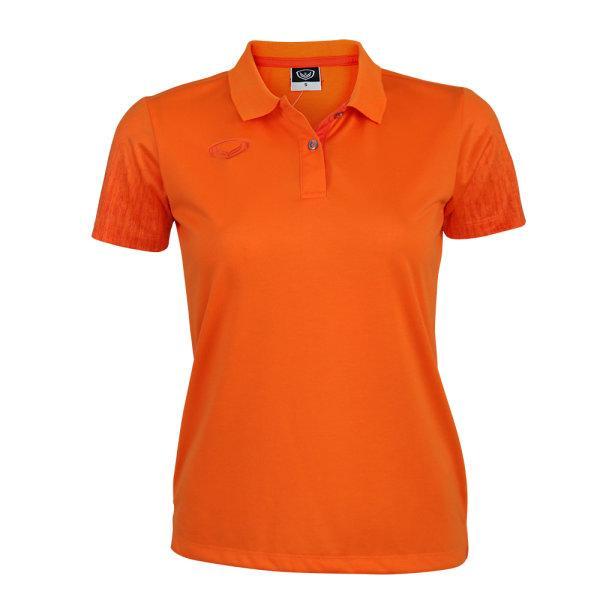 เสื้อโปโลหญิงแกรนด์สปอร์ต(สีส้ม) รหัส : 012763