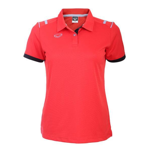 เสื้อโปโลหญิงแกรนด์สปอร์ต รหัส :012767 (สีแดง)