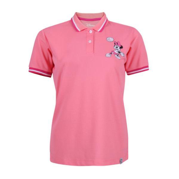 เสื้อโปโลหญิงปัก Minnie รหัส : 621015 (สีชมพู)