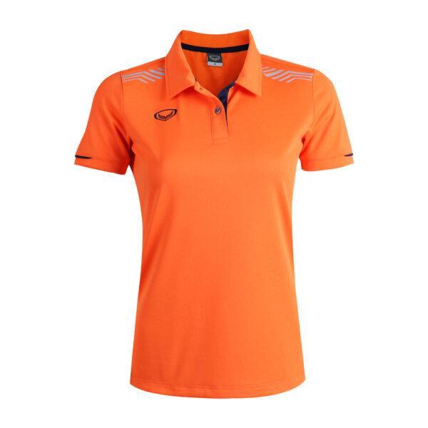 เสื้อโปโลหญิงแกรนด์สปอร์ต รหัสสินค้า : 012781 (สีส้ม)