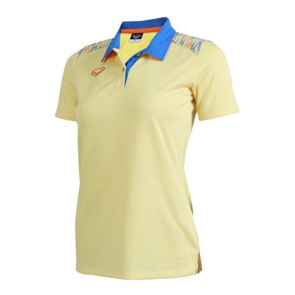 เสื้อโปโลหญิงแกรนด์สปอร์ต รหัส : 012776 (สีเหลือง)