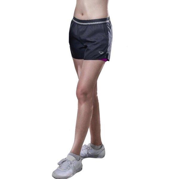 แกรนด์สปอร์ต กางเกงขาสั้นมีซับใน(สีดำม่วง) รหัส:028672