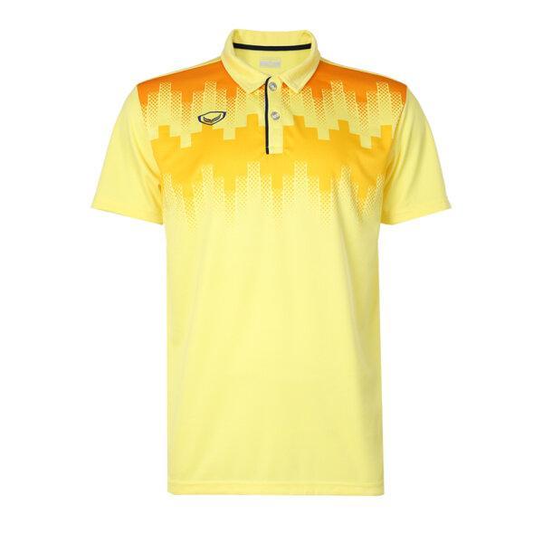 เสื้อโปโลพิมพ์หน้า แกรนด์สปอร์ต รหัส : 072047 (สีเหลือง)
