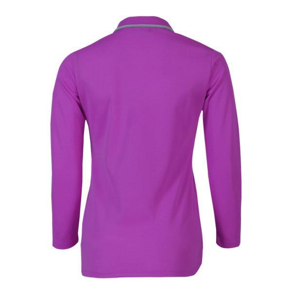 เสื้อโปโลหญิงแขนยาวแกรนด์สปอร์ต (สีม่วง) รหัส:012779