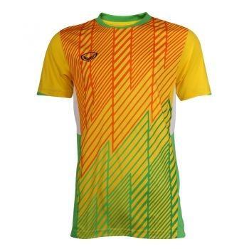 เสื้อประตูฟุตบอล แขนสั้น แกรนด์สปอร์ต รหัสสินค้า : 018094 (สีเหลือง)