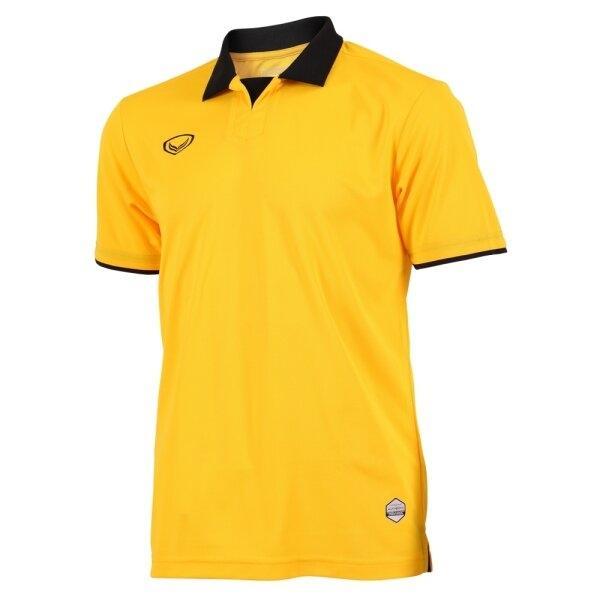 แกรนด์สปอร์ตเสื้อกีฬาฟุตบอลคอปก  รหัสสินค้า : 011552 (สีเหลือง)