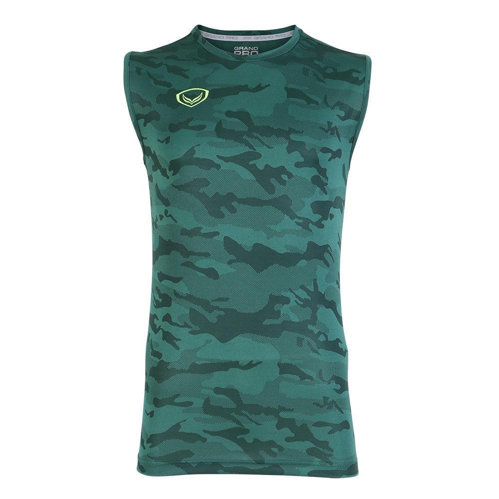 แกรนด์สปอร์ต เสื้อกีฬา Grand pro(แขนกุด) รหัส:038309 (สีเขียว)