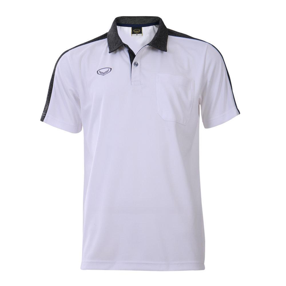 เสื้อโปโลชายแกรนด์สปอร์ต (สีขาว)รหัสสินค้า : 012573