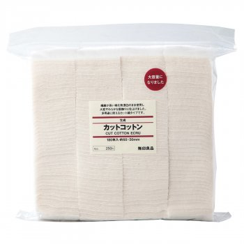 MUJI Unbleached Cotton Pads 180 sheets (60x50mm)