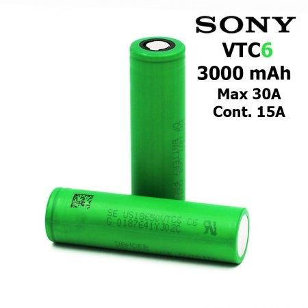 Authentic SONY 18650 VTC6 3.6V 3000mAh Rechargeable Li-ion Battery