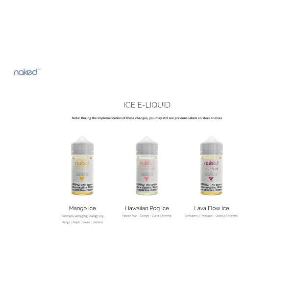 USA Naked 100 Ice by The Schwartz Eliquid 60ML (70%VG)