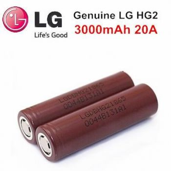 Authentic LG 18650 HG2 3.6V 3000mAh Rechargeable Li-ion Battery