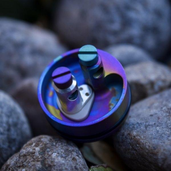 Limited Edition Silver Post (22mm) Anodized Titanium